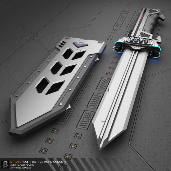 Alex Papadopoulos _Brute_Scifi_Battleknife_02
